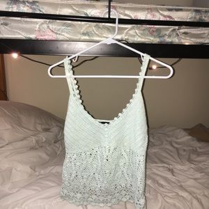 EXPRESS Delicately hand-knit tank top